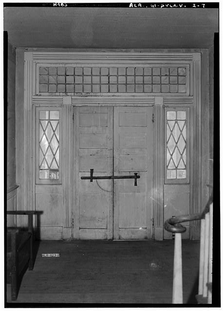7.  Historic American Buildings Survey E. W. Russell, Photographer, June 17, 1937 INTERIOR OF FRONT ENTRANCE - Wewoka, Riser Mill Road, Sylacauga, Talladega County, AL
