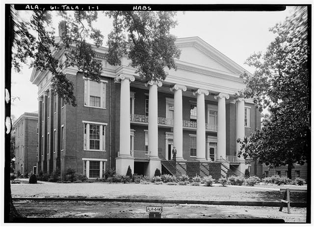 1.  Historic American Buildings Survey Alex Bush, Photographer, May 7, 1935 FRONT AND EAST SIDE, FACES NORTH - East Alabama Masonic Female Institute, 205 East South Street, Talladega, Talladega County, AL