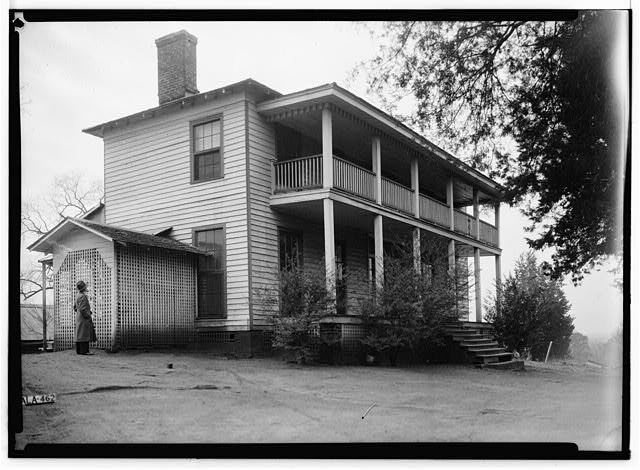 5.  Historic American Buildings Survey Alex Bush, Photographer, February 2, 1937 WEST (FRONT) AND NORTH ELEVATION - King Plantation, Frank Street, Talladega, Talladega County, AL