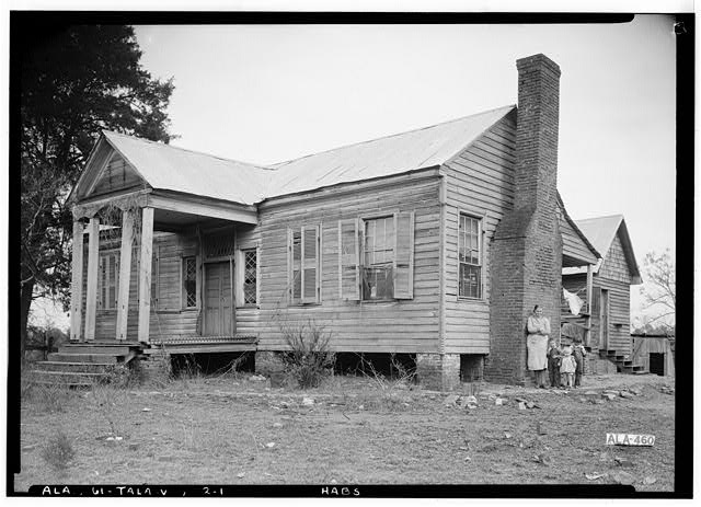 1.  Historic American Buildings Survey Alex Bush, Photographer, February 4, 1937 FRONT (WEST) AND SOUTH SIDE - Mardis House, U.S. Highway 231, Talladega, Talladega County, AL