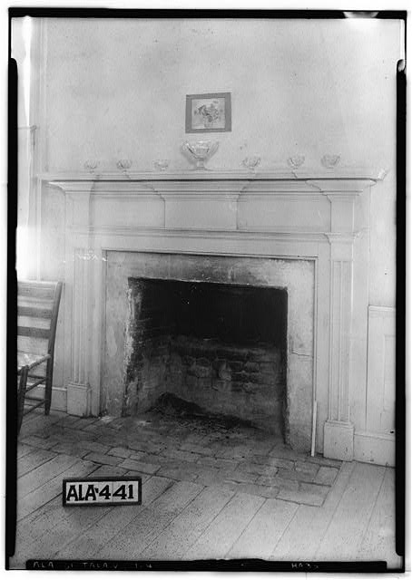 4.  Historic American Buildings Survey Alex Bush, Photographer, May 8, 1935 MANTEL IN S.W. FRONT ROOM FIRST FLOOR - Thornhill, State Road 21, Talladega, Talladega County, AL