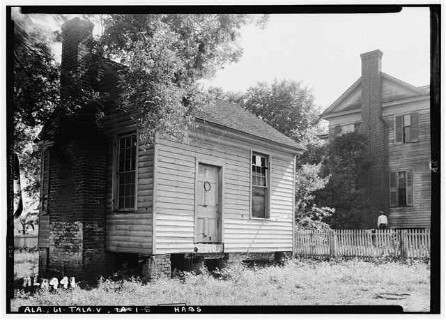 5.  Historic American Buildings Survey Alex Bush, Photographer, May 8, 1935 FRONT (N) AND E. END OF OLD OFFICE, E. SIDE OF HOME - Thornhill, State Road 21, Talladega, Talladega County, AL