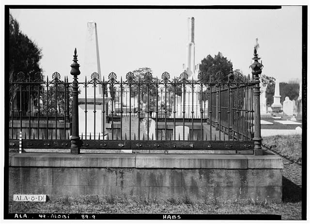 9.  Historic American Buildings Survey E. W. Russell, Photographer, February 6, 1936 WROUGHT IRON AND CAST IRON FENCE AROUND JUDGE HENRY HITCHCOCK LOT IN MAGNOLIA CEMETERY - Magnolia Cemetery (Ironwork), Virginia Street, Mobile, Mobile County, AL