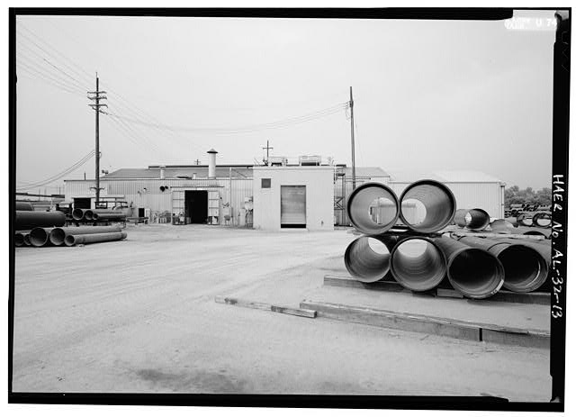 EXTERIOR CUT SHOPS & ZINC COATING BUILDINGS. - United States Pipe & Foundry Company Plant, 2023 St. Louis Avenue at I-20/59, Bessemer, Jefferson County, AL