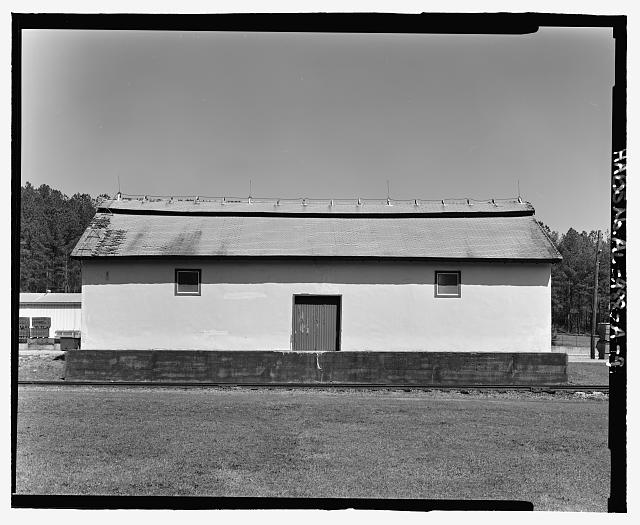 Planar view of rear (west) side, view towards the east northeast without scale - Fort McClellan Ammunition Storage Area, Building No. 4403, Second Avenue (Magazine Road), Anniston, Calhoun County, AL