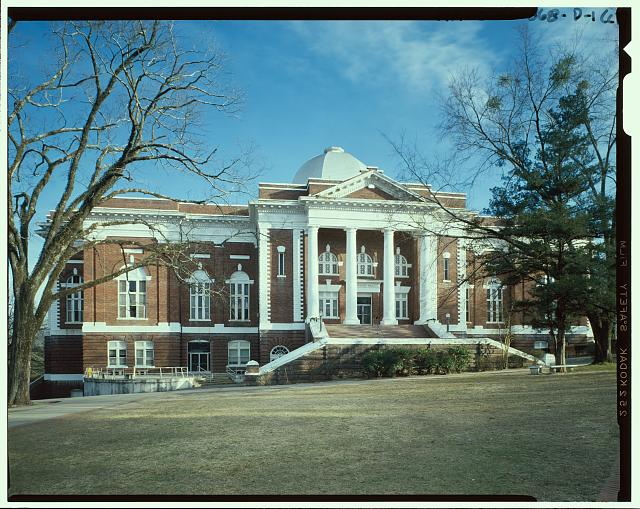 Exterior view - Tuskegee Institute, Tompkins Hall, Tuskegee, Macon County, AL