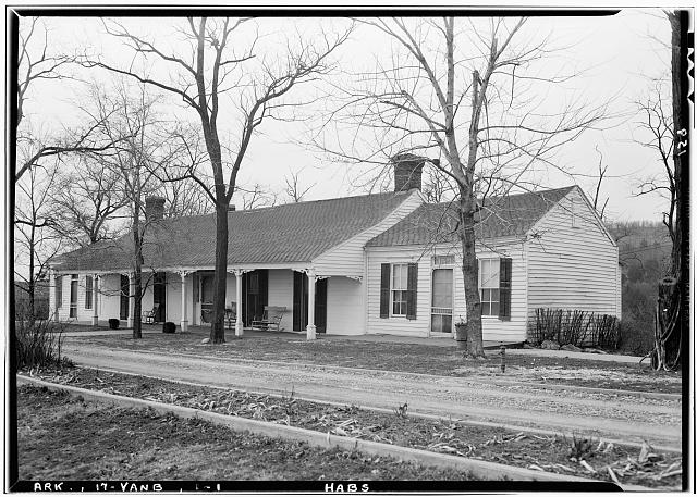 1.  Historic American Buildings Survey Lester Jones, Photographer March 2, 1940 VIEW FROM SOUTH - Colonel John Drennen House, Van Buren, Crawford County, AR