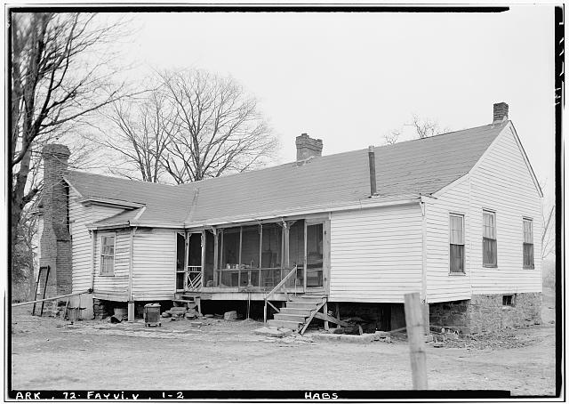 2.  Historic American Buildings Survey Lester Jones, Photographer March 3, 1940 VIEW FROM SOUTHWEST - Archibald Yell House, Fayetteville, Washington County, AR
