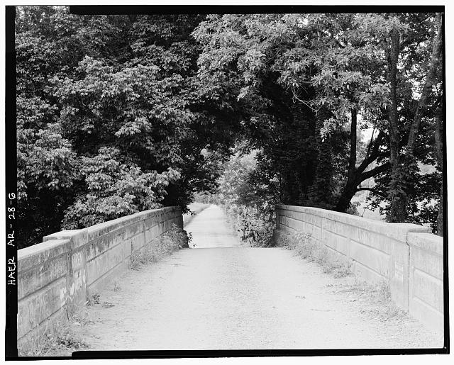6.  LOOKING SOUTHWEST, VIEW FROM BRIDGE DECK - Illinois River Bridge, Spanning Illinois River at Benton County Road 3, Siloam Springs, Benton County, AR