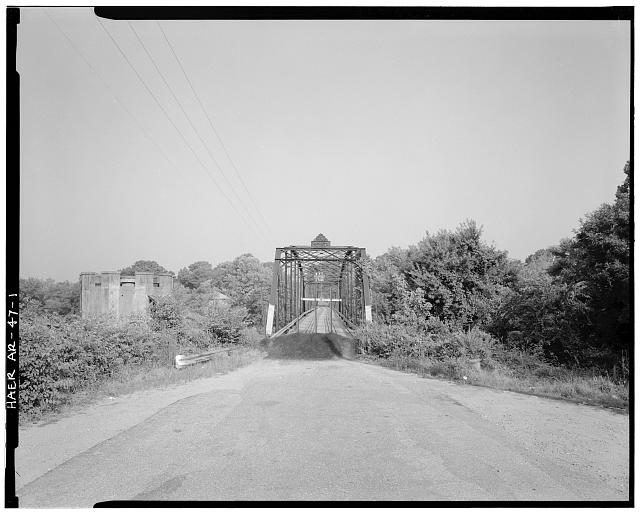 1.  GENERAL VIEW F PARKER THROUGH TRUSS, LOOKING SOUTHEAST - Rockport Bridge, Spanning Ouachita River at Old State Highway No. 84, Malvern, Hot Spring County, AR