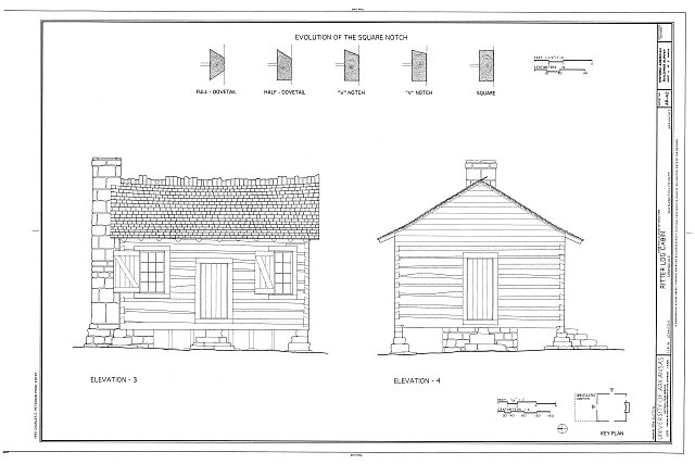 HABS ARK,72-SPRIGD,1- (sheet 4 of 6) - Ritter Log Cabin, 118 West Johnson Avenue, Springdale, Washington County, AR