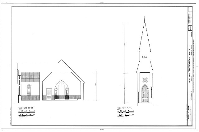 HABS ARK,72-CAHIL,1- (sheet 4 of 9) - Cane Hill Presbyterian Church, State Highway 45, Canehill, Washington County, AR