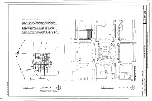 HABS ARK,72-FAYV,5- (sheet 2 of 8) - Bank of Fayetteville, 100 West Center Street, Fayetteville, Washington County, AR
