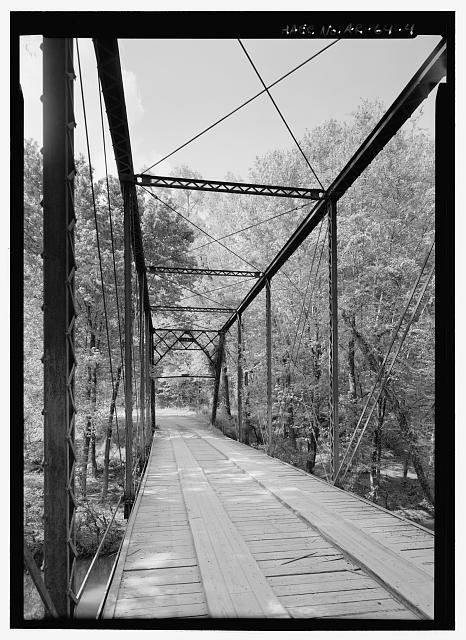 Interior perspective looking north - Fryer&#39;s Ford Bridge, Spanning East Fork of Point Remove Creek at Fryer Bridge Road (CR 67), Solgohachia, Conway County, AR