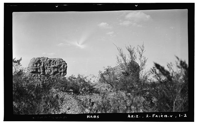 2.  Historic American Buildings Survey Frederick D. Nichols, Photographer November 1937 VIEW AT REAR LOOKING INTO NAVE - Santa Ana de Quiburi Mission (Ruins), Fairbank (historical), Cochise County, AZ