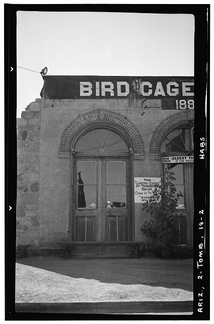 2.  Historic American Buildings Survey Frederick D. Nichols, Photographer November 1937 DETAIL OF ALLEN STREET FACADE - Bird Cage Theatre, Allen Street, near Sixth Street, Tombstone, Cochise County, AZ
