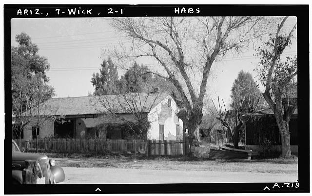 1.  Historic American Buildings Survey Delos H. Smith, photographer 1940 - South Flont Street (House), Wickenburg, Maricopa County, AZ