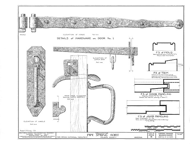 HABS ARIZ,8-MOC.V,1- (sheet 12 of 14) - Pipe Spring Fort, Moccasin, Mohave County, AZ