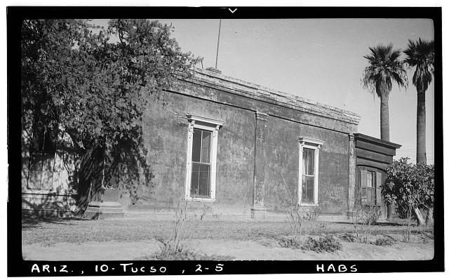 5.  Historic American Buildings Survey Frederick A. Eastman, Photographer January 1938 DETAIL OF SOUTH ELEVATION - Ballantyne Robinson House, Military Plaza (141 South Fifth Avenue), Tucson, Pima County, AZ