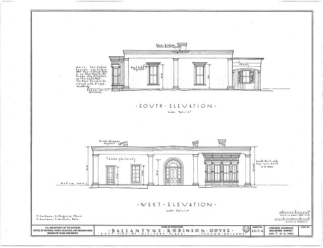 HABS ARIZ,10-TUCSO,2- (sheet 2 of 6) - Ballantyne Robinson House, Military Plaza (141 South Fifth Avenue), Tucson, Pima County, AZ
