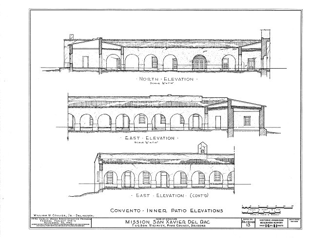 HABS ARIZ,10-TUCSO.V,3- (sheet 14 of 41) - San Xavier del Bac Mission, Mission Road, Tucson, Pima County, AZ