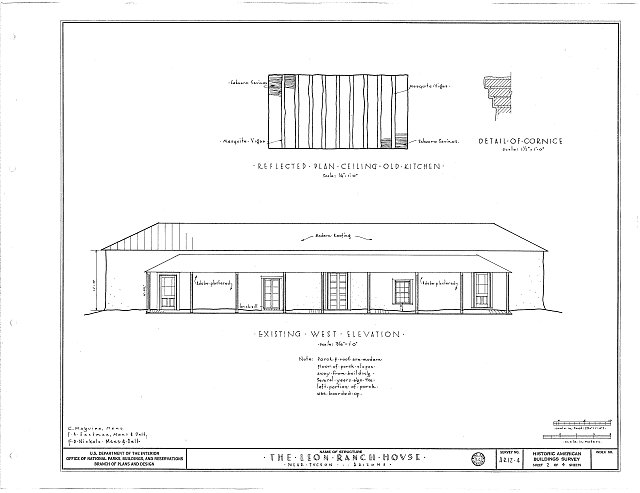 HABS ARIZ,10-TUCSO.V,1- (sheet 2 of 4) - Leon Ranch House, Silver Bell Road, Tucson, Pima County, AZ