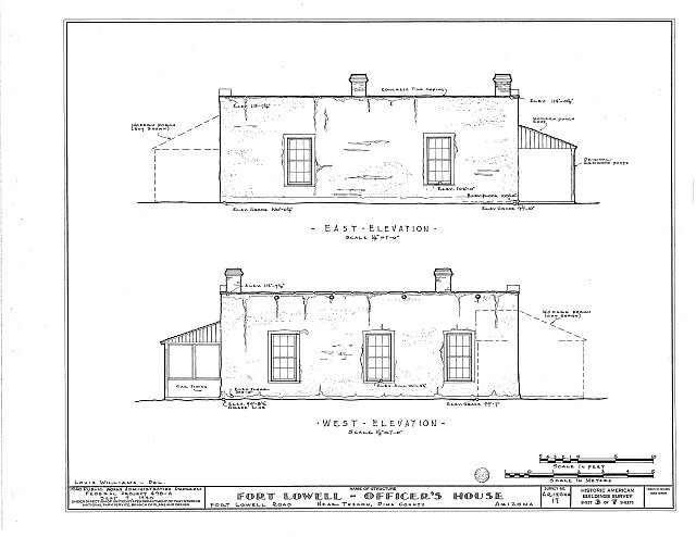 HABS ARIZ,10-TUCSO.V,2- (sheet 3 of 7) - Fort Lowell, Fort Lowell Road Vicinity, Tucson, Pima County, AZ