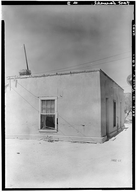 1.  Historic American Buildings Survey Donald W. Dickensheets, Photographer. July 6, 1940. SUMMER KITCHEN. (NORTHEAST ELEVATION). - Fort Lowell, Summer Kitchen, Fort Lowell Road Vicinity, Tucson, Pima County, AZ