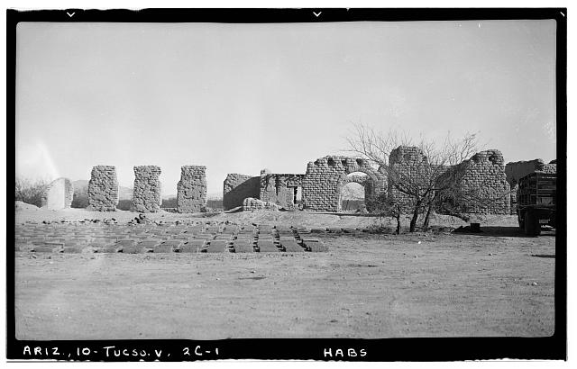 1.  Historic American Buildings Survey Frederick D. Nichols, Photographer December 1937 WEST SIDE - Fort Lowell, Post Hospital (Ruins), Fort Lowell Road Vicinity, Tucson, Pima County, AZ
