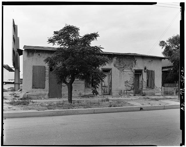 1.  GENERAL VIEW SHOWING WEST FACADE - 447-451 South Main Avenue (House), Tucson, Pima County, AZ