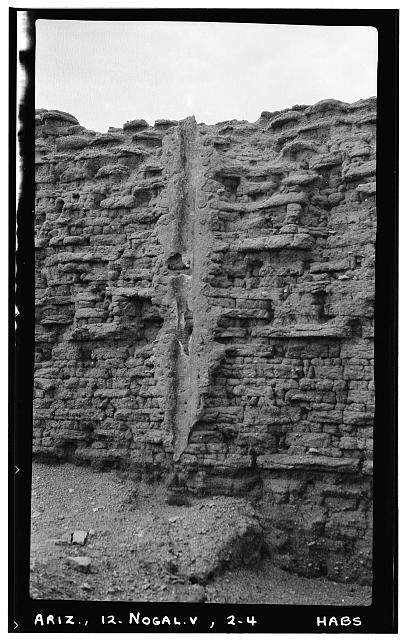 4.  Historic American Buildings Survey Frederick D. Nichols, Photographer August 1937 CANAL IN EAST WALL OF CHURCH - San Cayetano de Calabasas (Mission, Ruins), Santa Cruz River Vicinity, Nogales, Santa Cruz County, AZ