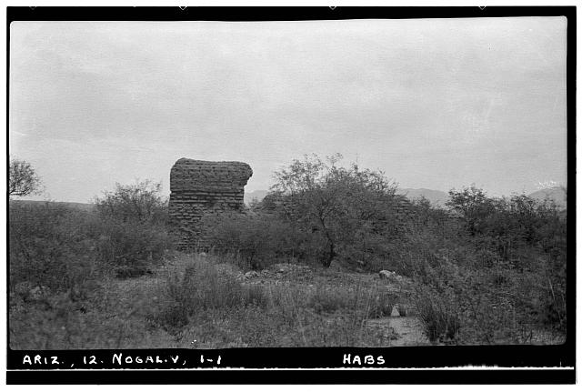 1.  Historic American Buildings Survey Frederick D. Nichols, Photographer August 1937. GENERAL VIEW LOOKING NORTH - San Gabriel de Guevavi, Santa Cruz River, Nogales, Santa Cruz County, AZ
