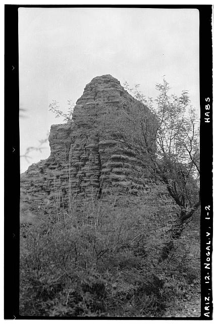 2.  Historic American Buildings Survey Frederick D. Nichols, Photographer August 1937. EXTERIOR VIEW OF SOUTHWEST CORNER - San Gabriel de Guevavi, Santa Cruz River, Nogales, Santa Cruz County, AZ