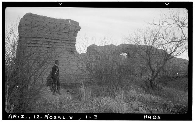 3.  Historic American Buildings Survey Delos H. Smith, photographer February 1940 SOUTH ELEVATION - San Gabriel de Guevavi, Santa Cruz River, Nogales, Santa Cruz County, AZ