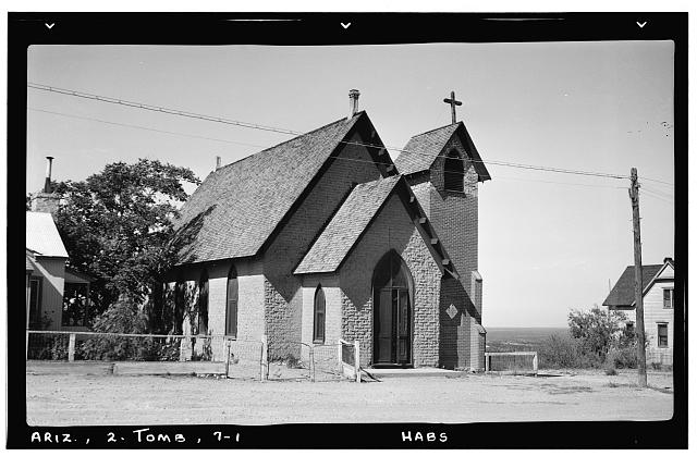 1.  Historic American Buildings Survey Frederick D. Nichols, Photographer November 1937 VIEW LOOKING WEST - Episcopal Church, Third & Safford Streets, Tombstone, Cochise County, AZ