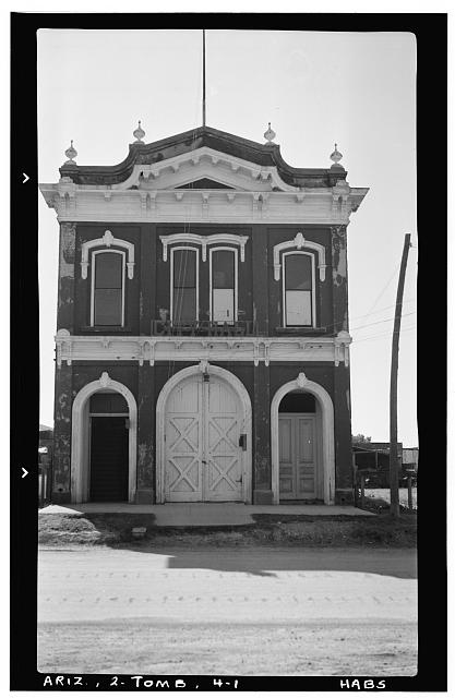1.  Historic American Buildings Survey Frederick D. Nichols, Photographer November 1937 VIEW LOOKING SOUTH - City Hall, Fremont Street, Tombstone, Cochise County, AZ