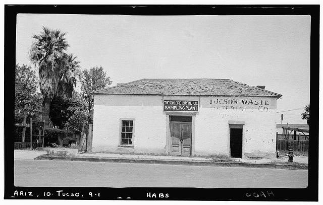 1.  Historic American Buildings Survey Frederick D. Nichols, Photographer December 1937 SOUTH FACADE - Fred W. Fickett House, 105 West Franklin Street, Tucson, Pima County, AZ