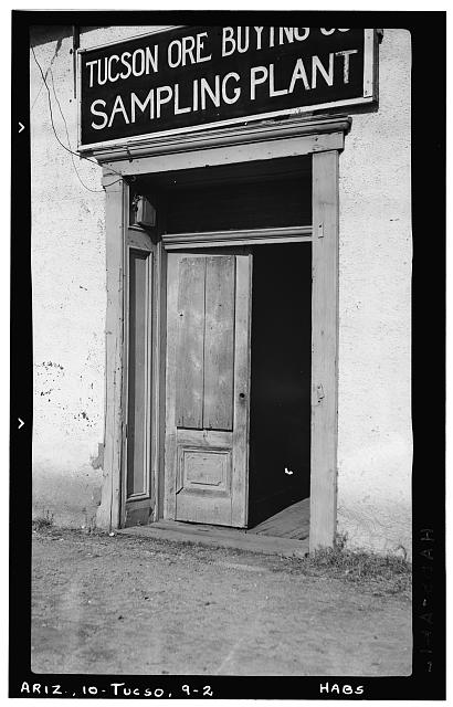 2.  Historic American Buildings Survey Frederick D. Nichols, Photographer December 1937 DETAIL OF DOORWAY - Fred W. Fickett House, 105 West Franklin Street, Tucson, Pima County, AZ
