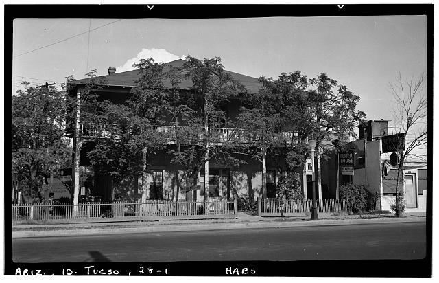 1.  Historic American Buildings Survey Frederick D. Nichols, Photographer August 1937 GENERAL VIEW - 124 North Stone Street (House), Tucson, Pima County, AZ