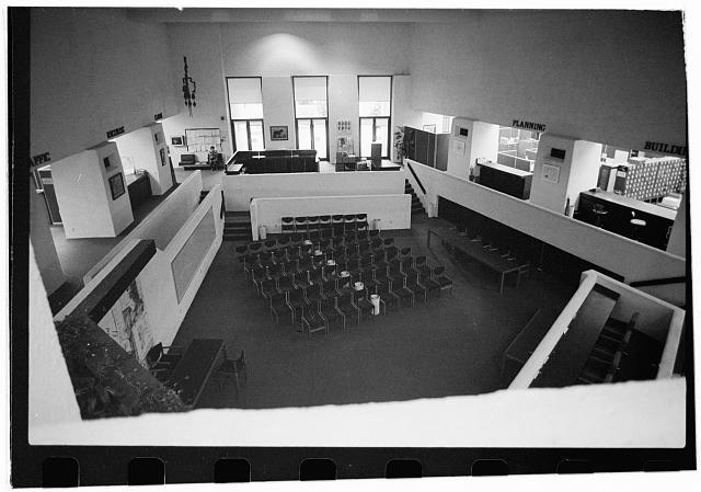 5.  Interior,looking west towards entrance,council chamber in foreground - City Hall, Civil Center, Scottsdale, Maricopa County, AZ