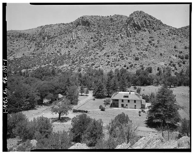 1.  CONTEXTUAL VIEW OF RANCH HOUSE LOOKING WEST - Faraway Ranch, Willcox, Cochise County, AZ