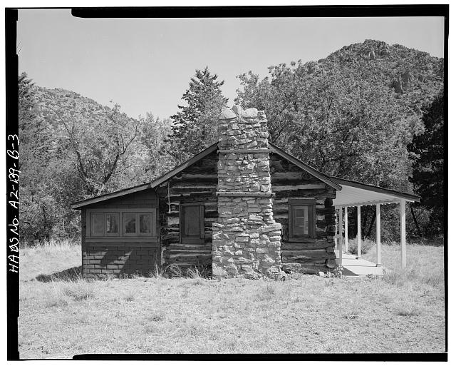 3.  SOUTH SIDE - Faraway Ranch, Stafford-Riggs Cabin, Willcox, Cochise County, AZ