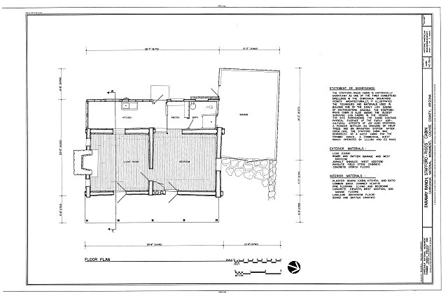 HABS ARIZ,2-WILCO.V,1B- (sheet 1 of 2) - Faraway Ranch, Stafford-Riggs Cabin, Willcox, Cochise County, AZ