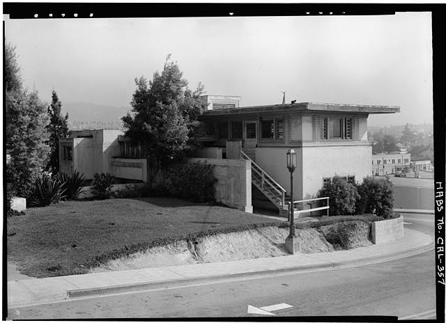 1.  Historic American Buildings Survey Marvin Rand, Photographer September 1965 SOUTHWEST CORNER - Barnsdall Park, Residence 'A', 4800 Hollywood Boulevard, Los Angeles, Los Angeles County, CA