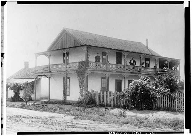 1.  Historic American Buildings Survey Courtesy Mrs. Grace S. Caldron (Granddaughter of Geronimo Lopez Photo: ca. 1900 SOUTHEAST CORNER - Casa de Geronimo Lopez, 1102 Pico Street, San Fernando, Los Angeles County, CA