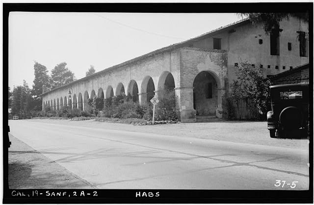 2.  Historic American Buildings Survey Photographed by H.F. Withey, April 22nd, 1934. MONASTERY SOUTH FRONT FROM SOUTH-EAST. - Mission San Fernando Rey de Espana, Monastery, San Fernando Mission Road, San Fernando, Los Angeles County, CA