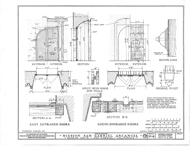 HABS CAL,19-SANGA,1- (sheet 10 of 12) - Mission San Gabriel Arcángel, 428 South Mission Drive, San Gabriel, Los Angeles County, CA