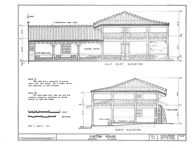 HABS CAL,27-MONT,14- (sheet 6 of 10) - Custom House, Custom House Plaza, Monterey, Monterey County, CA