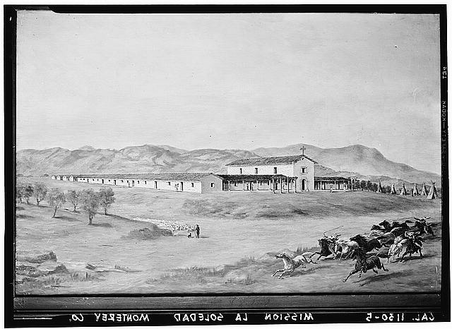 2.  Historic American Buildings Survey From Oriana Day paintings DeYoung Museum, San Francisco Original: 1861-1885 Re-photo: February 1940 VIEW FROM SOUTHWEST - Mission Nuestra Senora de la Soledad, Soledad, Monterey County, CA