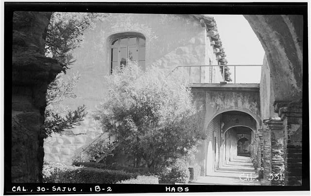 2.  Historic American Buildings Survey Photographed by Henry F. Withey June 1936 NORTH FACADE OF SERRA'S CHURCH - Mission San Juan Capistrano, Serra's Church, Olive Street, between U.S. Highway 101 & Main Street, San Juan Capistrano, Orange County, CA
